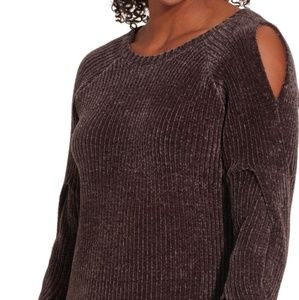 Calia Plum Effortless Chenille Sweater